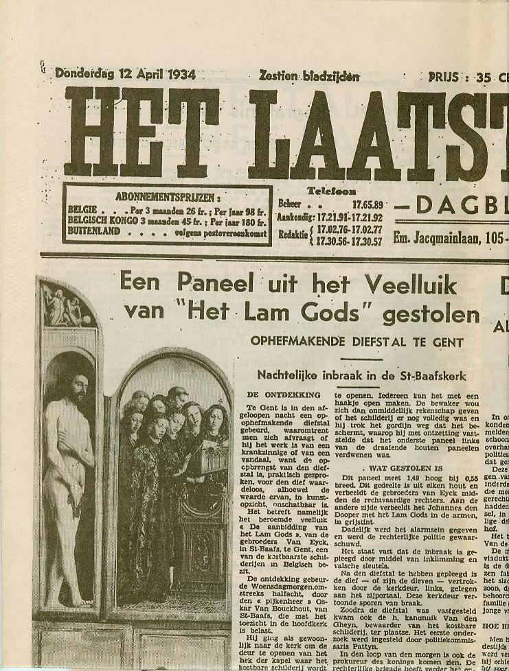 Het Lam Gods ont(k)leed en de diefstal van de Rechtvaardige Rechters