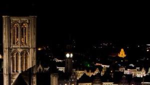 Exclusief: het Lichtfestival gezien vanuit het belfort (04/02)